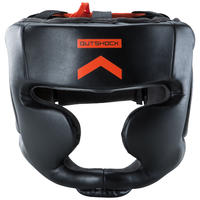 500 Adult Boxing Full-Face Training Head Guard - Black