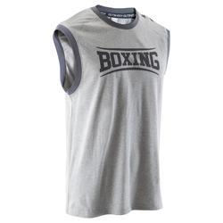 Mouwloos boksshirt voor training