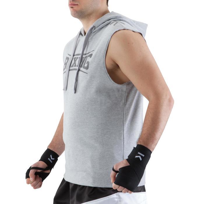 拳擊連帽背心 - 灰色