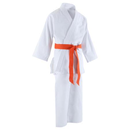 500 Kids' Judo Aikido Uniform - White