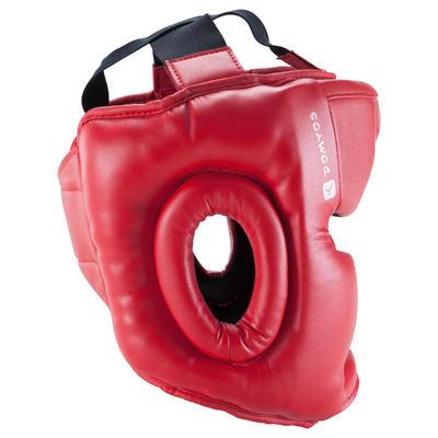 خوذة ملاكمة للأطفال لحماية الرأس و الوجه في الرياضات القتالية - أحمر