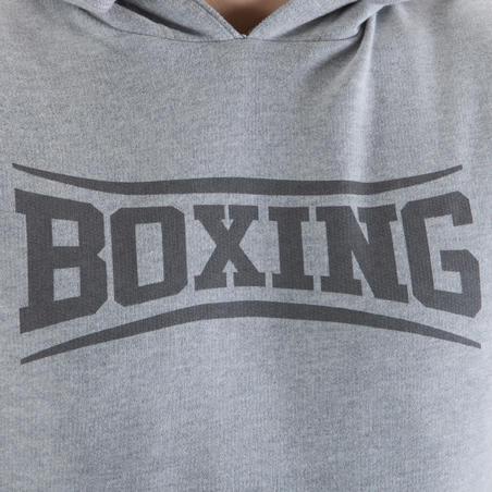 Playera sin mangas hombre Box Outshock con capucha gris