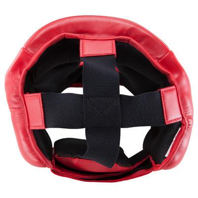 מגן ראש סגור לספורט לחימה לילדים - אדום