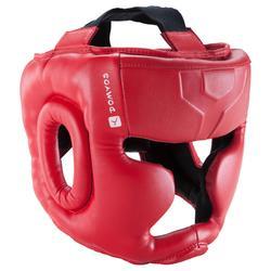 孩童搏擊運動全面罩頭盔 - 紅色