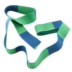 Tweekleurige judoband 2,50 m groen/blauw