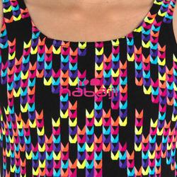 Baju  Renang One-Piece Tahan Klorin Kamiye Anak Perempuan - Hitam
