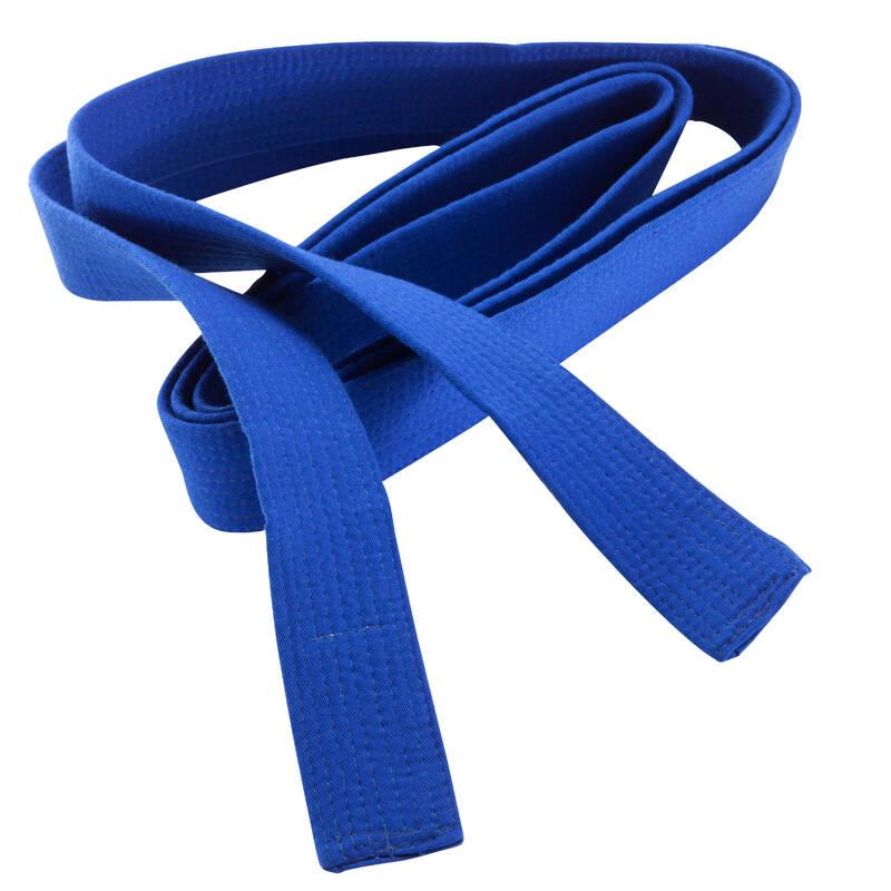 PÁSKY Taekwondo - PROŠÍVANÝ PÁSEK 2,8 M MODRÝ OUTSHOCK - Taekwondo
