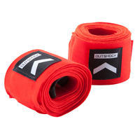 BANDAGES DE BOXE 100 2,5 M ROUGES