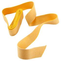 Band voor martial arts 2,5 meter gladde stof geel