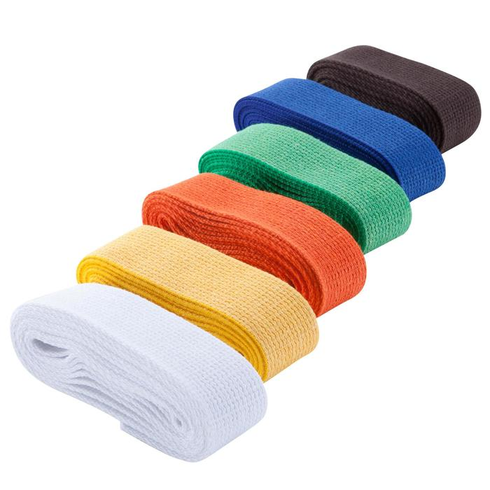 Band in gladde stof voor martial arts 2,5 m effen - 1142306