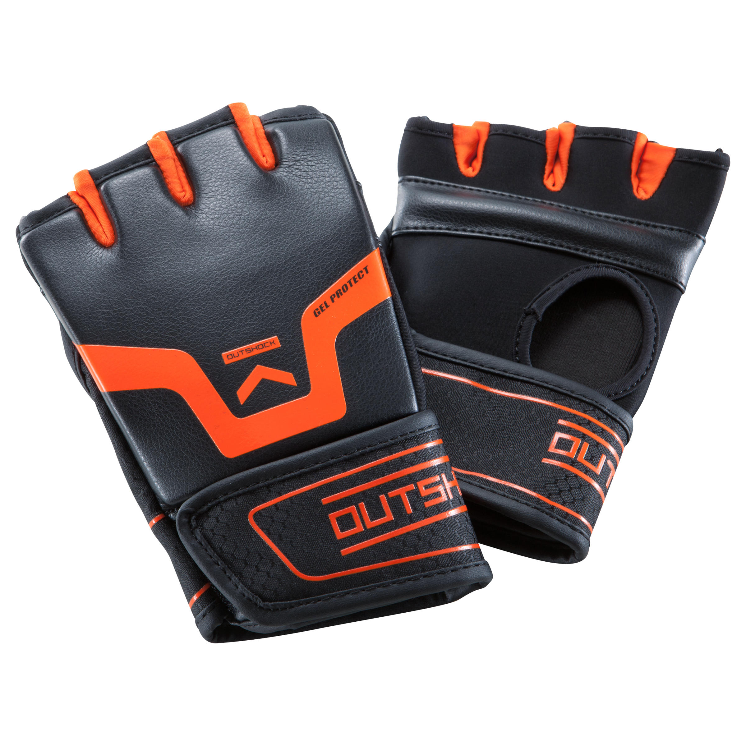 500 Gel Boxing Training Gloves - Black/Orange