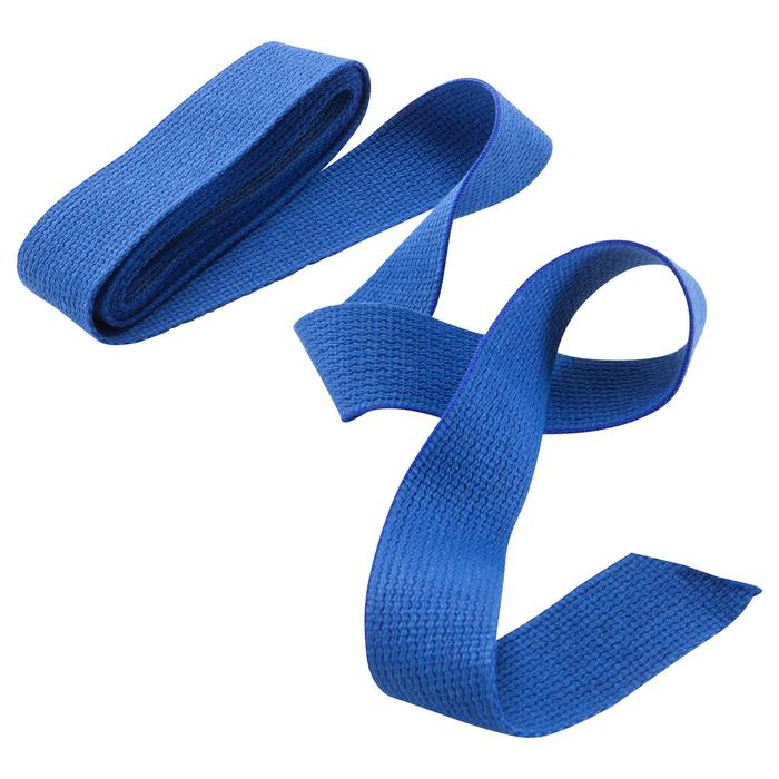 Band in gladde stof voor martial arts 2,5 m effen blauw