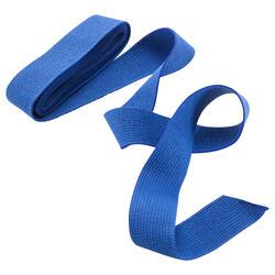 Band voor martial arts 2,5 meter gladde stof blauw