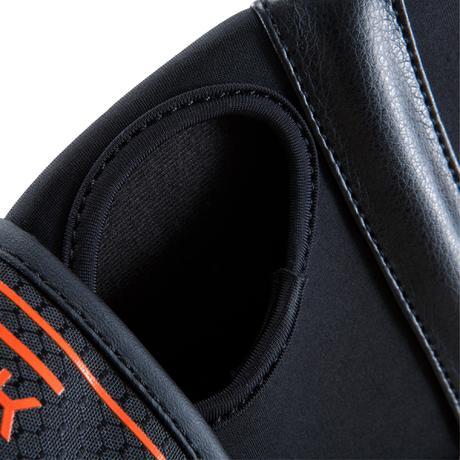 mitaines de boxe gel 500 noir orange domyos by decathlon. Black Bedroom Furniture Sets. Home Design Ideas