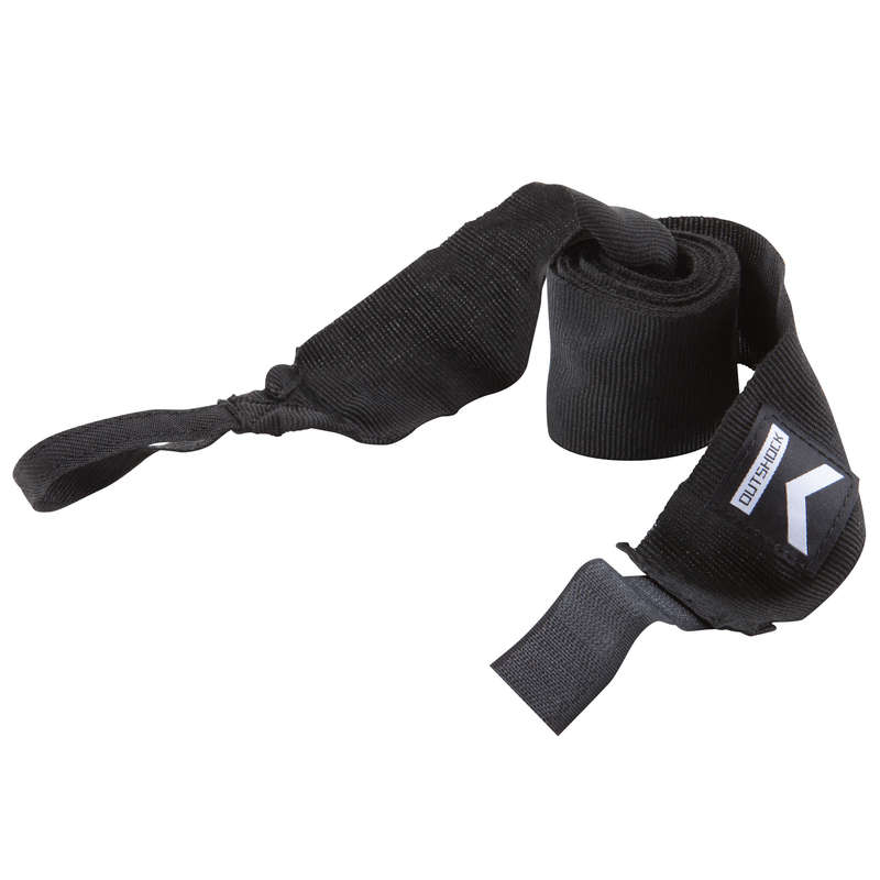 WRAPS AND UNDER GLOVES Boxing - 100 Boxing Wraps 2.5m - Black OUTSHOCK - Boxing