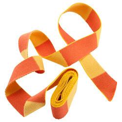 Judoband 2,50 m tweekleurig, geel/oranje