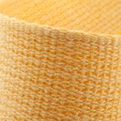Band in gladde stof voor martial arts 2,5 m effen geel