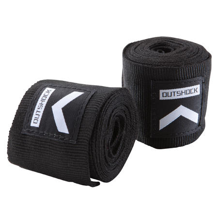 100 Boxing Wraps 2.5m - Black