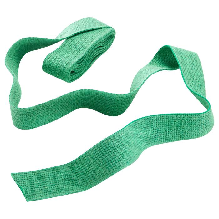 Band in gladde stof voor martial arts 2,5 m effen groen