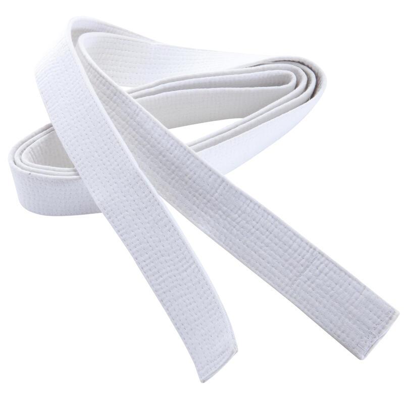Band voor martial arts piqué 2,80 m wit