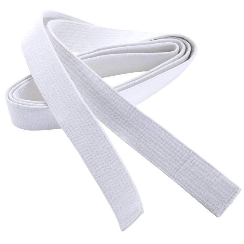 PÁSKY Taekwondo - PROŠÍVANÝ PÁSEK 2,8 M BÍLÝ OUTSHOCK - Taekwondo