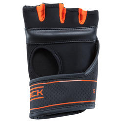 MITAINES DE BOXE GEL 500 NOIR/ORANGE