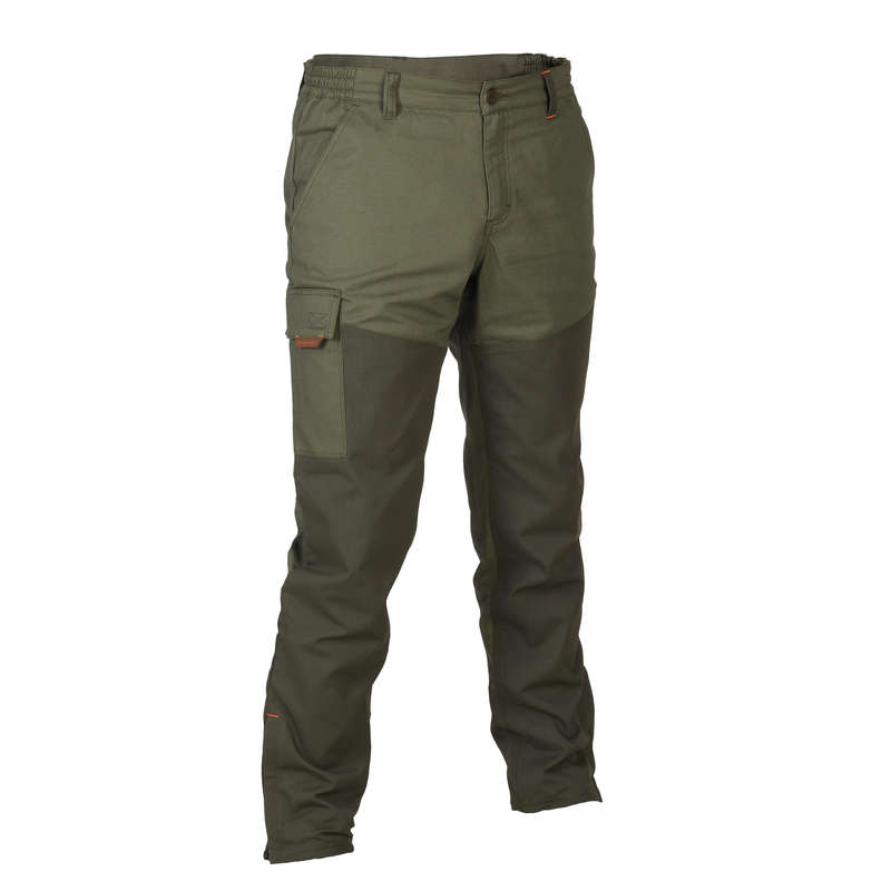 REINFORCED CLOTHING Shooting and Hunting - 100 REINF TAPERED TROUSERS GR SOLOGNAC - Hunting and Shooting Clothing