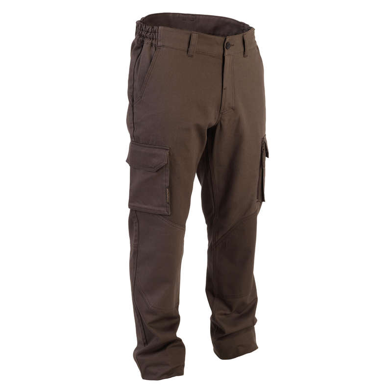 TROUSERS/SHIRTS Shooting and Hunting - 520 Trousers - Brown SOLOGNAC - Hunting and Shooting Clothing