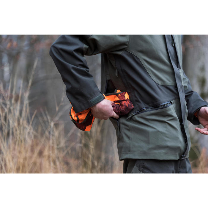 GILET CHASSE COMPACT SILENCIEUX FLUO