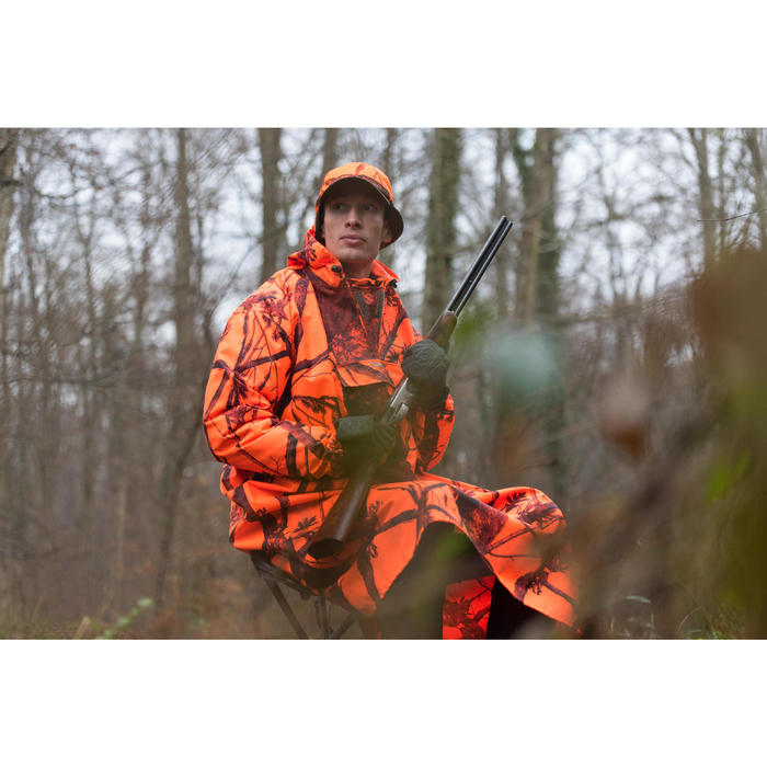 Poncho chasse camouflage fluo - 1142490