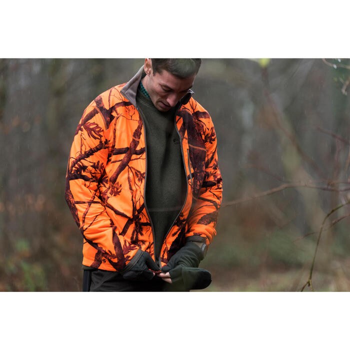 Veste chasse 900 camouflage fluo - 1142501