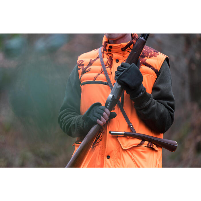 Gilet chasse chaud 500 camouflage fluo - 1142506