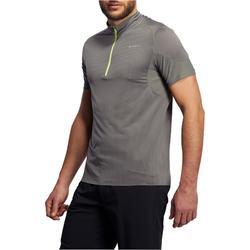 Camiseta de manga corta de senderismo rápido hombre FH500 Helium Gris