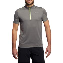 Men's Fast Hiking Short-sleeved T-Shirt FH500 Helium - Grey