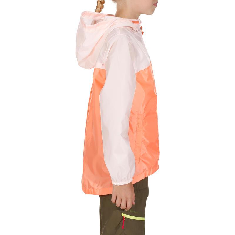 Veste imperméable de randonnée enfant Hike 150 pastel/rose