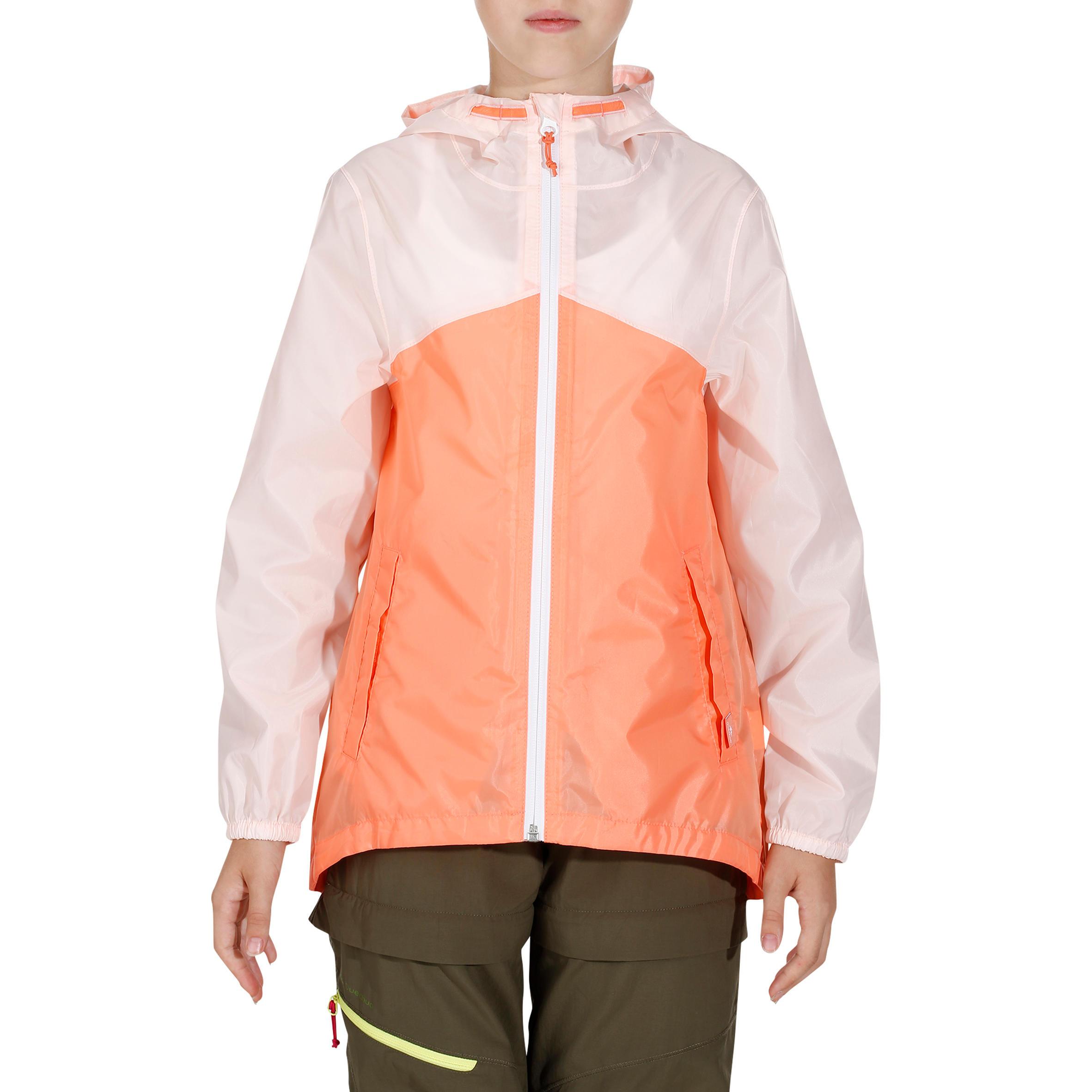 Kids' Hiking Waterproof Jacket Hike 150 - Pastel/Pink