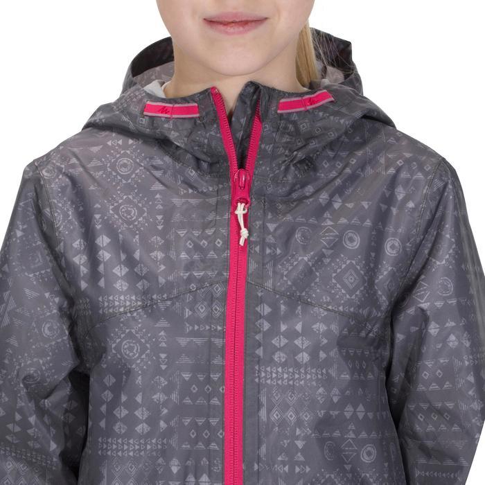 Veste imperméable de randonnée enfant Hike 150 gris imprimé tribal - 1142618
