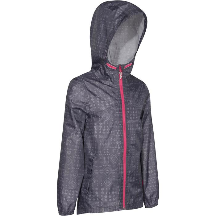 Chaqueta impermeable de senderismo júnior Hike 150 gris estampado tribal
