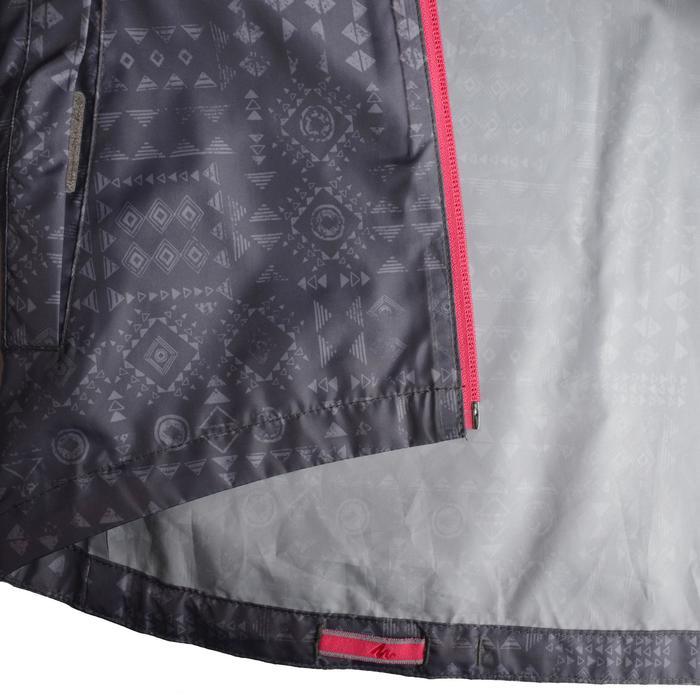 Veste imperméable de randonnée enfant Hike 150 gris imprimé tribal - 1142621