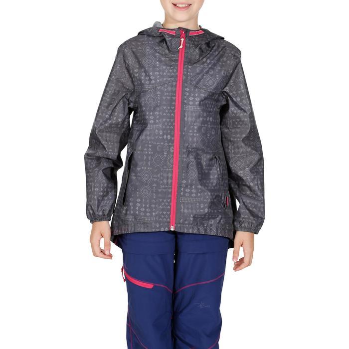 Veste imperméable de randonnée enfant Hike 150 gris imprimé tribal - 1142627