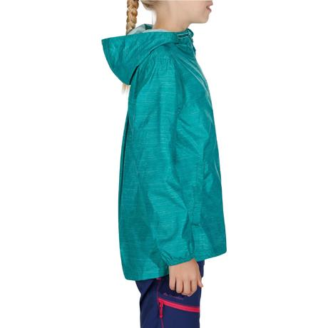 Hike 100 Girl's Waterproof Jacket | Quechua
