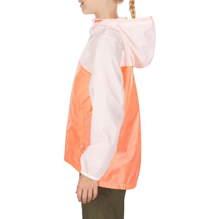 Chaqueta impermeable de senderismo júnior Hike 150 pastel/rosa
