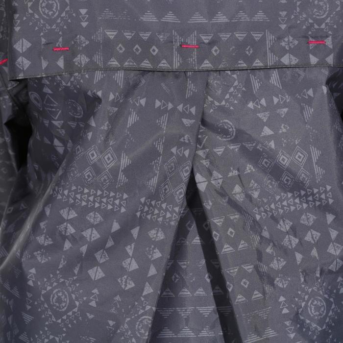 Veste imperméable de randonnée enfant Hike 150 gris imprimé tribal - 1142639