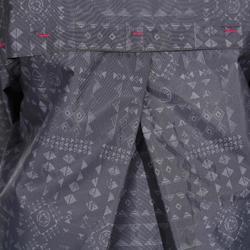 Wanderjacke MH150 wasserdicht Mädchen Print grau