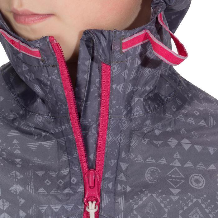 Veste imperméable de randonnée enfant Hike 150 gris imprimé tribal - 1142649