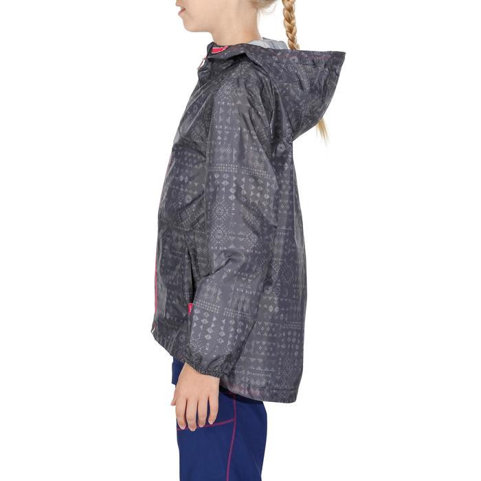Veste imperméable de randonnée enfant Hike 150 gris imprimé tribal - 1142653