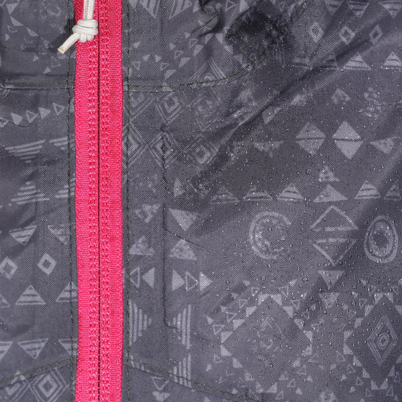Kid's Raincoat MH150 (2 TO 6 YEARS) - tribal grey print