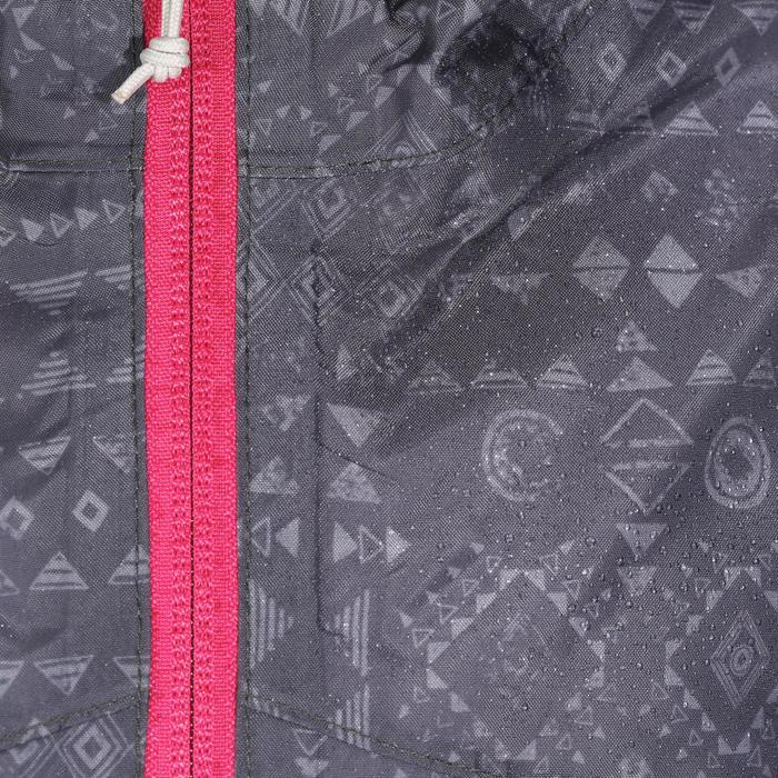Veste imperméable de randonnée enfant Hike 150 gris imprimé tribal - 1142661