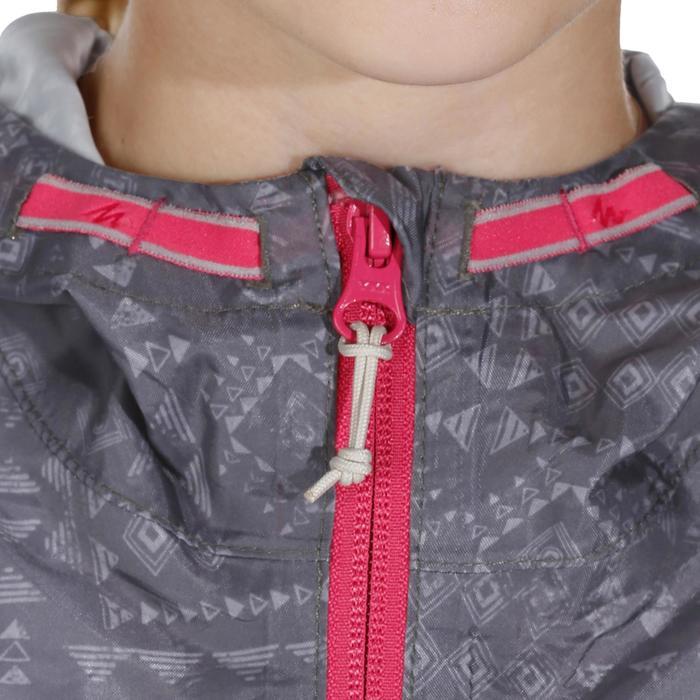 Veste imperméable de randonnée enfant Hike 150 gris imprimé tribal - 1142663