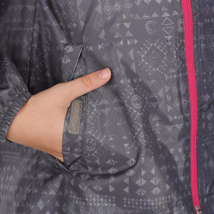 Veste imperméable de randonnée enfant Hike 150 gris imprimé tribal - 1142665